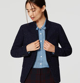 LOFT Speckled Tweed Notched Blazer