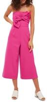 Topshop Women's Tie Twist Crop Jumpsuit