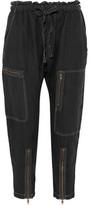 Current/Elliott The Zip Cargo Linen Tapered Pants