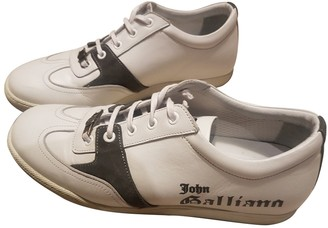 John Galliano White Leather Trainers