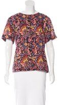 Dries Van Noten Abstract Print Short Sleeve Top