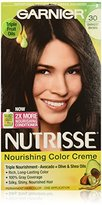 Garnier Nutrisse Nourishing Color Creme, 30 Darkest Brown (Sweet Cola), 3-Pack (Packaging May Vary)