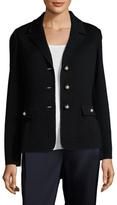St. John Santana Wool Ribbed Jacket