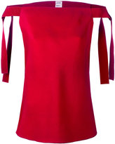 Maison Rabih Kayrouz off shoulder top - women - Silk/Cotton/Viscose - 36