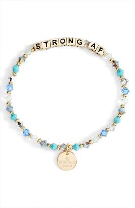 Little Words Project Strong AF Beaded Stretch Bracelet