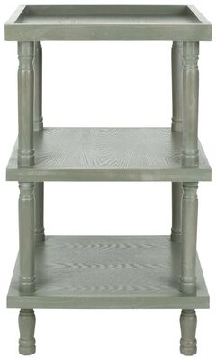 Ophelia Sadie Solid Wood Tray Top 3 Legs End Table with Storage & Co.