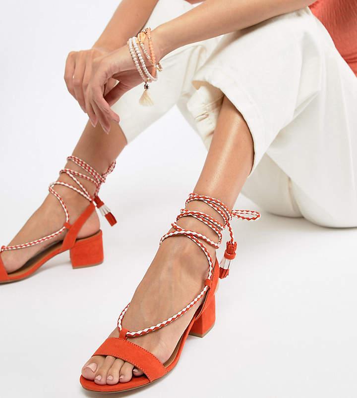 e492d1d7325 Tie Leg Mid Heeled Sandals