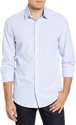 Mizzen+Main Dixon Tattersall Trim Fit Performance Button-Up Shirt