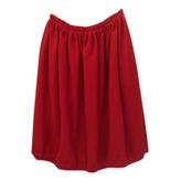 Chloé Red Wool Skirt