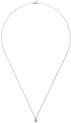 De Beers 18kt white gold My First DB Classic diamond pendant necklace