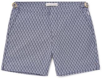 Orlebar Brown Bulldog X Mid-Length Jacquard Swim Shorts - Men - Blue