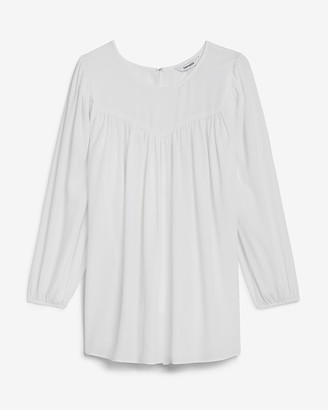 Express Ruched Balloon Sleeve Top