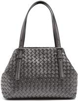Bottega Veneta Intrecciato metallic small leather tote