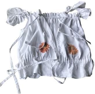 Innika Choo White Linen Tops
