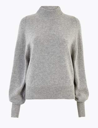 Marks and Spencer Wool Rich Turtle Neck Jumper with Cashmere