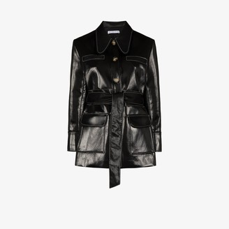 REJINA PYO Felix button-up patent coat