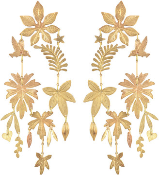 We Dream In Colour Tobago Foliage Earrings