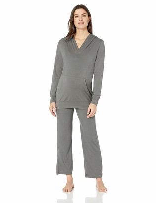 Everly Grey Women's Maternity Irene Nursing 2 Piece Hoodie and Pant
