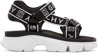 Givenchy Black and White Jaw Sandals