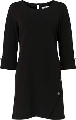 Wallis PETITE Black Stud Detail Shift Dress
