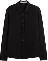 Mcq Alexander Mcqueen Black Embroidered Shirt
