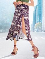 Midi Wrap Skirt - Floral & Print
