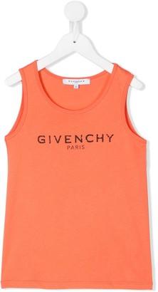 Givenchy Kids Logo Print Vest Top