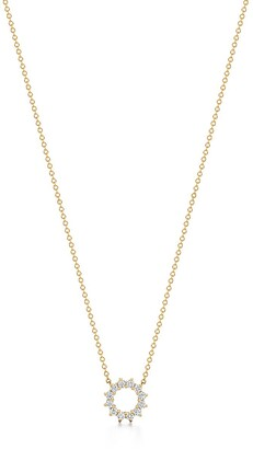 Tiffany & Co. Open circle pendant in 18k gold with diamonds, mini
