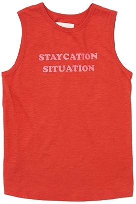 ban.do Staycation Situation Slub Muscle Tank (Red) Women's Clothing