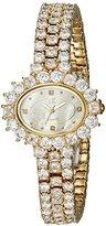 Adee Kaye Women's Quartz Brass Dress Watch, Color:Gold-Toned (Model: AK9118-LG)