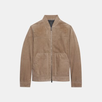 Theory Bomber Jacket in Suede