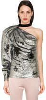 Daniele Carlotta One Shoulder Sequined Top