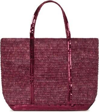 Vanessa Bruno Medium + Raffia Cabas Tote Bag