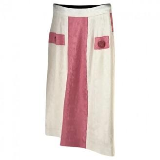 Herve Leger White Cotton Skirt for Women Vintage