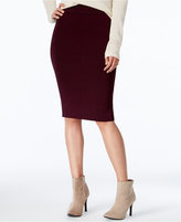 Bar III Ribbed Midi Pencil Skirt, Only at Macy's