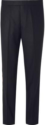 Favourbrook Black Grosgrain-Trimmed Wool-Twill Tuxedo Trousers