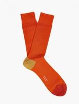 Paul Smith Orange Cotton Socks
