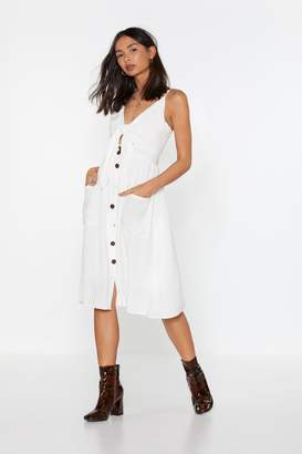 Nasty Gal Womens If Knot For You Tie Midi Dress - White - L
