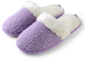 Aerusi Sunrise Weave Women Warm Comfy Indoor Close Toe Home Slippers