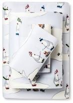 Eddie Bauer Skating Peguins Flannel Sheet Set