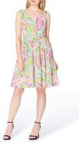 Tahari Cotton Fit & Flare Dress (Petite)