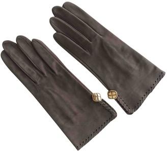 Chanel Beige Suede Gloves