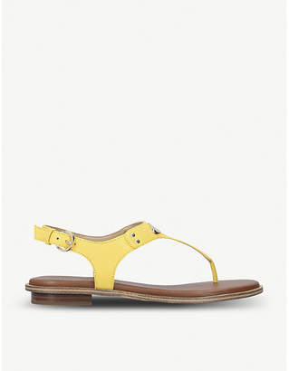 MICHAEL Michael Kors MK Plate textured leather sandals