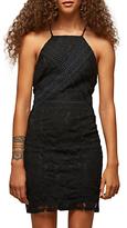 Miss Selfridge Petite Lace Bodycon Dress, Black
