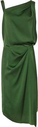 Reiss Ostia - One Shoulder Cocktail Dress in Emerald