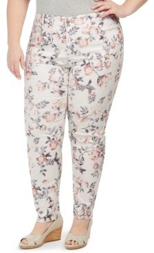 Charter Club Plus Size Bristol Printed Skinny Ankle Jeans, Created for Macy's