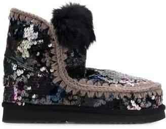 Mou sequin embellished Eskimo boots