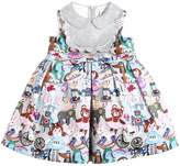 Simonetta Printed Cotton Satin Dress