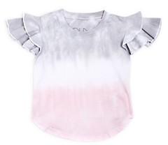 Chaser Girls' Tie Dye Flutter Sleeve Tee - Little Kid
