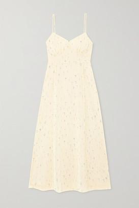 Tvf Souffle Floral-print Crepe De Chine Midi Dress